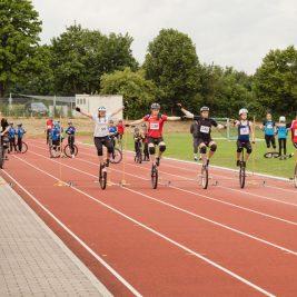 Offene Bayerische Meisterschaften Einradrennen Hofheim