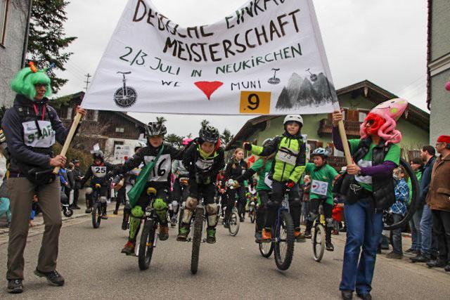 Werbung für die DM MUni in Teisendorf